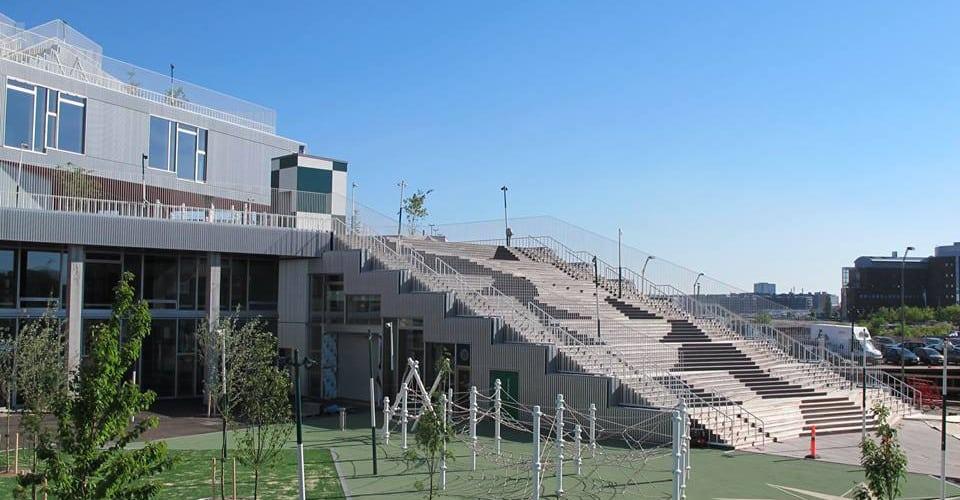 Schulhof auf dem Dach – Berliner Seilfabrik – Spielgeräte fürs Leben